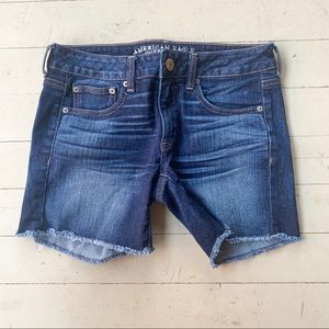 AE Boy Midi denim shorts size 2 frayed